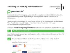 PressReader Anleitung